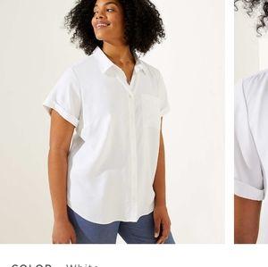 Ann taylor loft white shirt